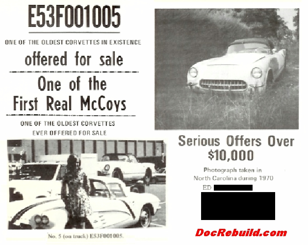 Ed had VIN #013 for sale in the July 1972 VCCA Blue Flame Special