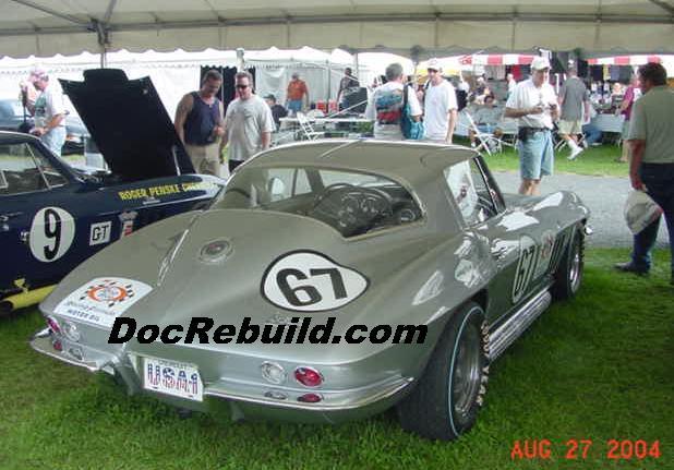 C2 Race Corvettes at Carlisle 2004